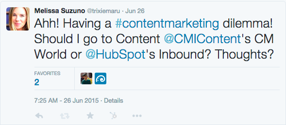 cmworld or inbound tweet